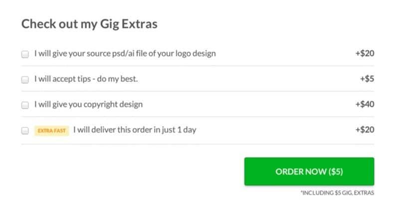 Fiver Logo Design Extras